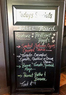 The Ashanti Coffe Bagel Board in Thornbury featuring Bagels from Brilliant Bread